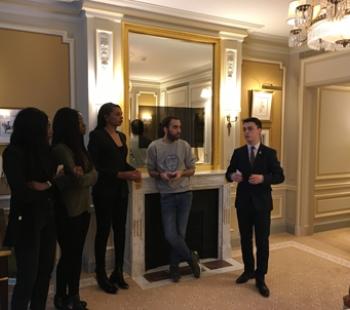 Nos étudiants visitent le Ritz