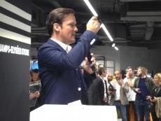 Inauguration de la nouvelle boutique Adidas sur les Champs-Elysées